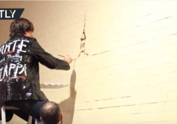 إسباني يحاول دخول غينيس بأكبر لوحة مرسومة بالشوكولاتة