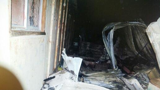 إصابة خطيرة لعامل آسيوي بحريق (1)