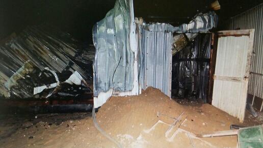 إصابة خطيرة لعامل آسيوي بحريق (2)