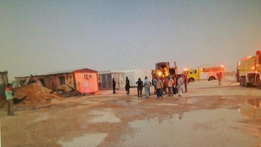 إصابة خطيرة لعامل آسيوي بحريق (3)