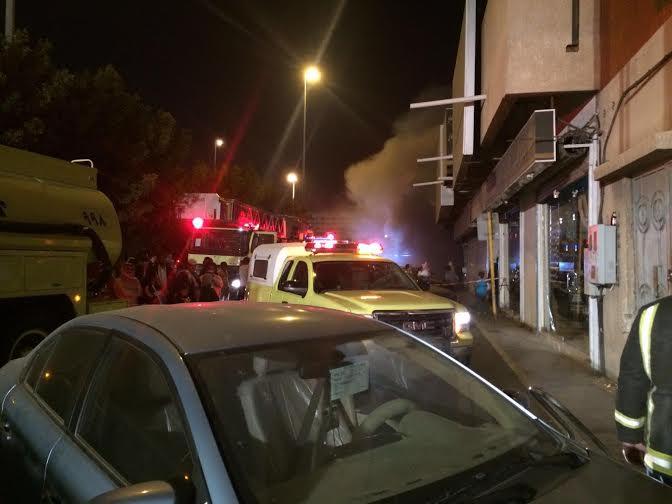 إصابة شخص ورجل أمن في حريق نشَب بمستودع بـ #الطائف2