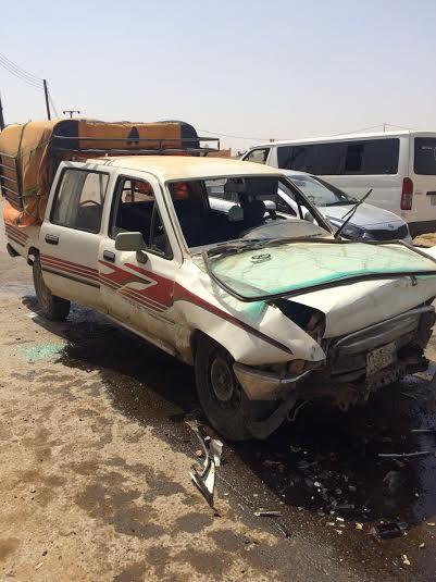 إصابة 15 طلابا ومعلمات في حادث بدرب #جازان1