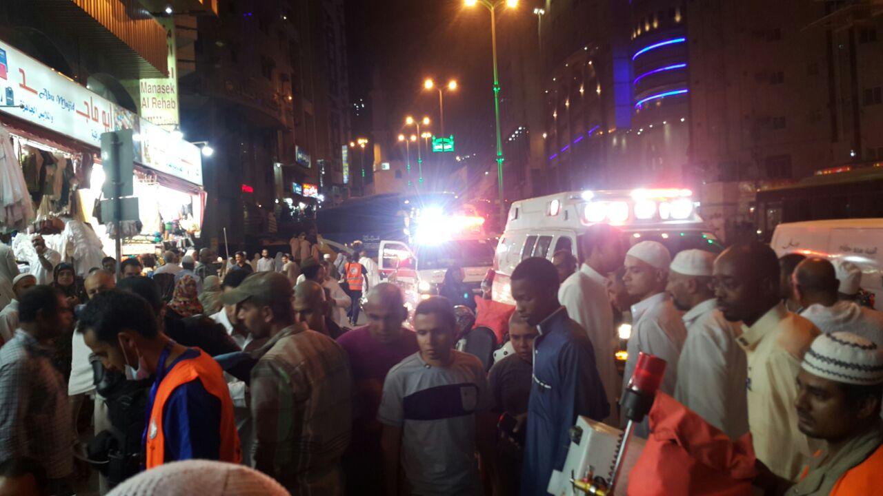 إصابة 3 أشخاص في حادث دهس بأجياد مكة (2)