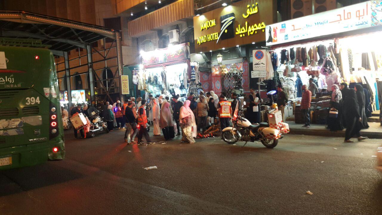إصابة 3 أشخاص في حادث دهس بأجياد مكة (3)
