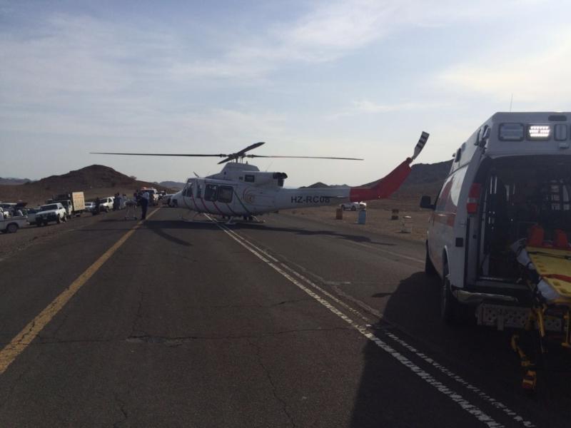 إصابة 5 أشخاص في حادث (2)