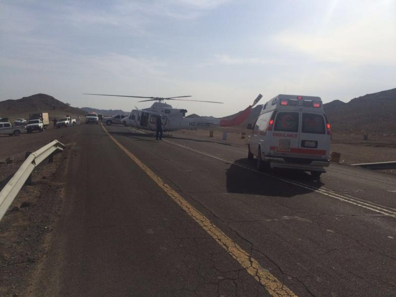 إصابة 5 أشخاص في حادث (6)