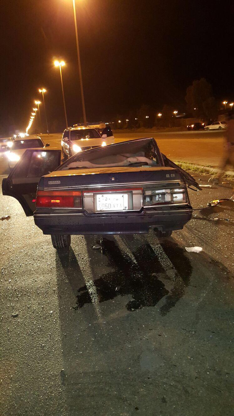 إصابتان خطيرتان في حادث تصادم على الطريق الدائري بـ #الطائف (4)