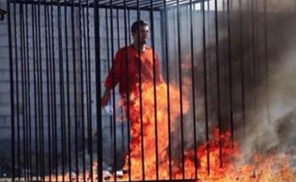 إعدام الطيار الأردني حرقا