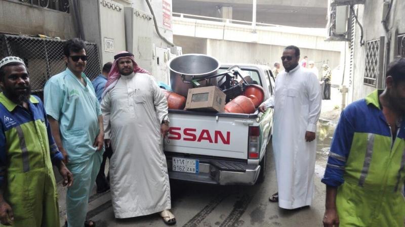 إغلاق مطبخ عشوائي داخل عمارة سكنية بمركزية مكة 6
