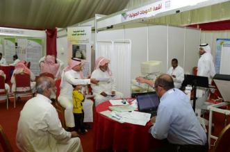 إقبال كثيف على برنامج جامعة الملك خالد الصحي بـ #المجاردة (1)