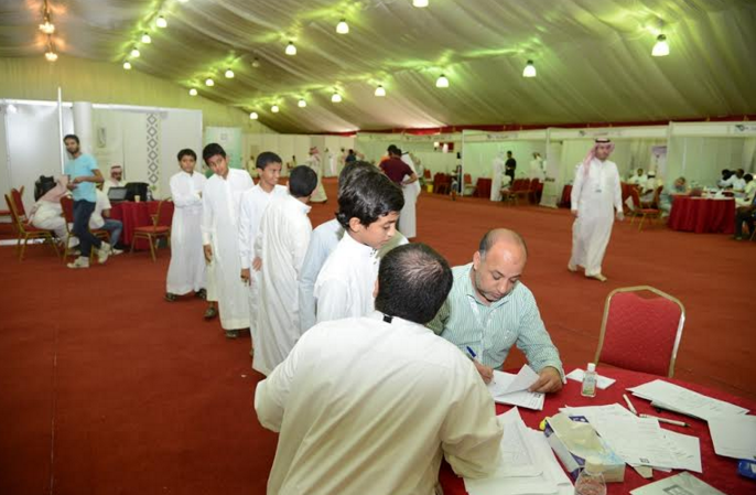 إقبال كثيف على برنامج جامعة الملك خالد الصحي بـ #المجاردة (2)