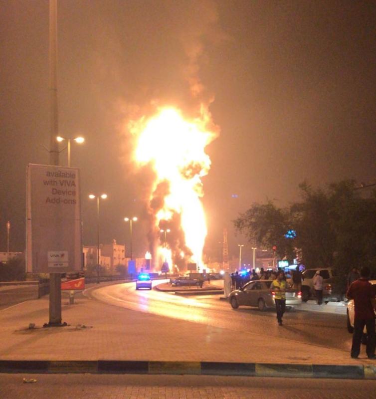 الداخلية البحرينية تعلن اخماد حريق أنابيب النفط