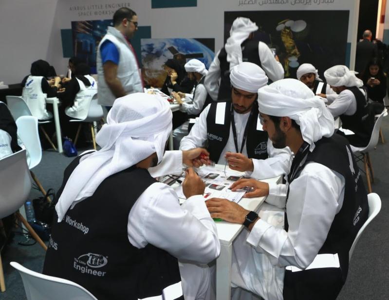 50 طالب وطالبة يكتشفون علوم الفضاء في إيرباص