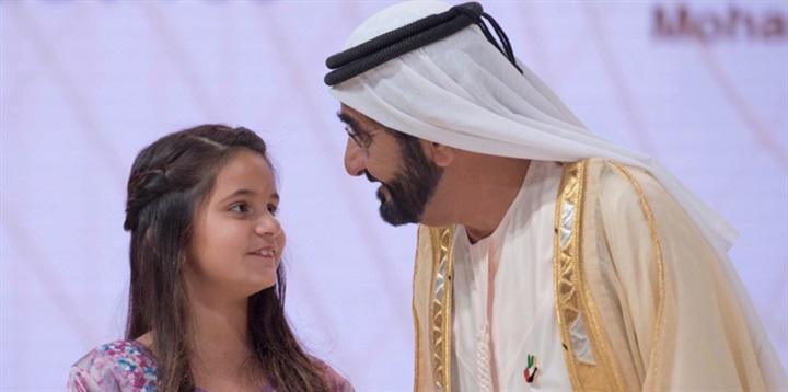 ابنة حاكم دبي مع والدتها في «العمرة»