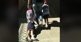فيديو صادم.. أب يجر ابنته من ملابسها في الشارع للذهاب إلى المدرسة! - المواطن