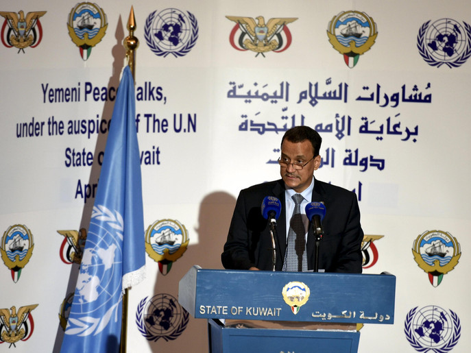 U.N. special envoy to Yemen Ismail Ould Cheikh Ahmed attends a news conference in Kuwait City, Kuwait April 26, 2016. REUTERS/Stephanie McGehee