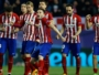 Atletico players react after PSV's Luciano Narsingh failed a penalty kick during a penalty shoot out at the end of the Champions League second leg soccer match between Atletico Madrid and PSV Eindhoven at the Vicente Calderon stadium in Madrid, Spain, Tuesday March 15, 2016. (AP Photo/Francisco Seco)