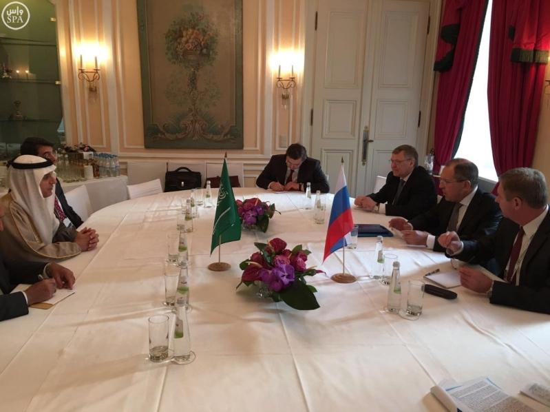 اجتماع بين وزير الخارجية السعودي ووزير الخارجية الروسي
