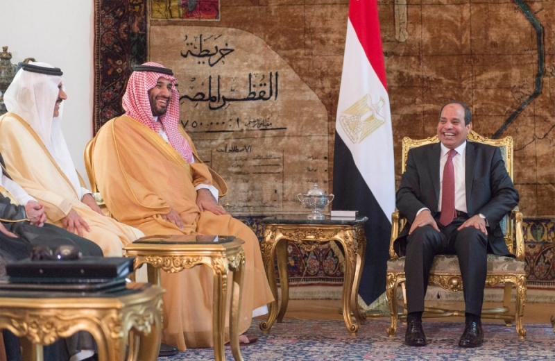 اجتماع محمد بن سلمان والسيسي1