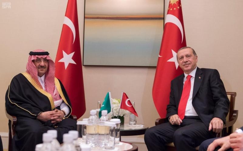اجتماع ولي العهد مع اردوغان