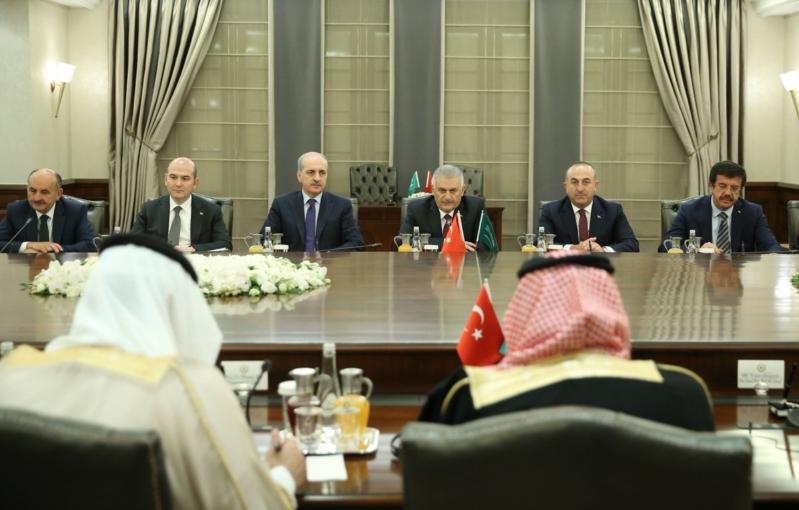 اجتماع ولي العهد ورئيس وزراء تركيا