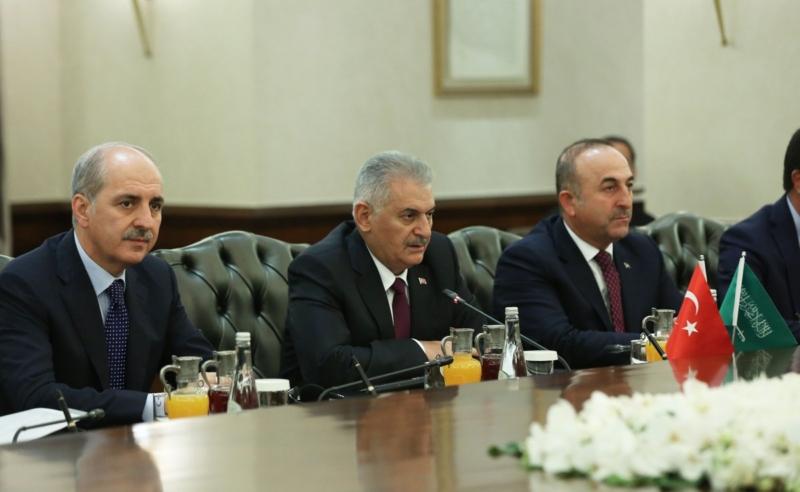 اجتماع ولي العهد ورئيس وزراء تركيا1