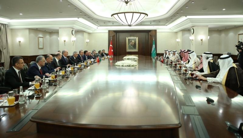 اجتماع ولي العهد ورئيس وزراء تركيا3