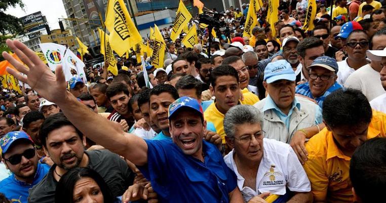 احتجاجات المعارضة الفنزويلية ضد الأوضاع الاقتصادية المتردية