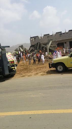 احتجاز عمال في انهيار مبنى تحت الإنشاء في بيش1