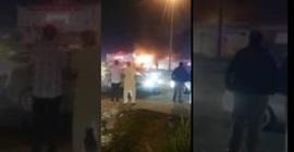 احتراق محل في الرياض