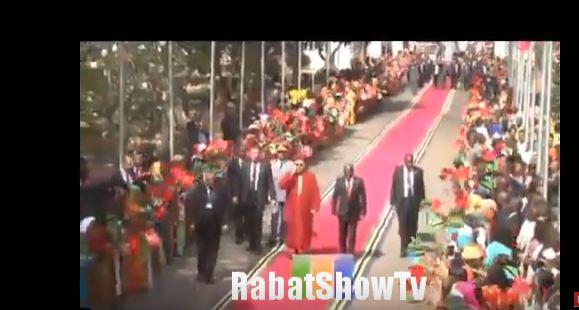 احتفال شعبي لملك المغرب في تنزانيا