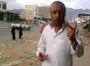 احد سكان تعز بعد تحريرها
