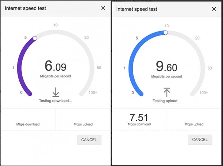 اختبار سرعة الانترنت من جوجل