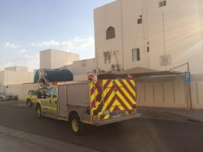 اختناق شخص في حريق شقة بـ #المدينة  (1)