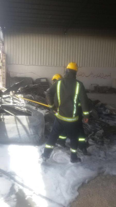 اخماد حريق بورشة سيارات بالعلا دون إصابات  (347180134) 