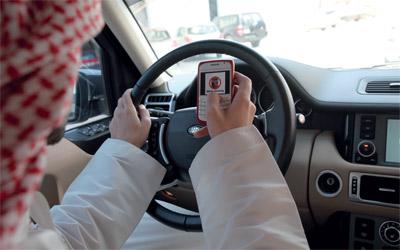 استخدام الجوال اثناء القيادة