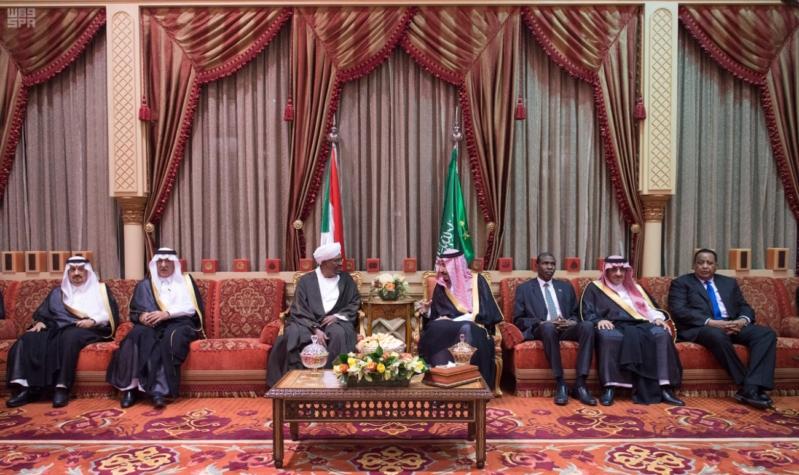 استقبال الملك لرئيس السودان 1