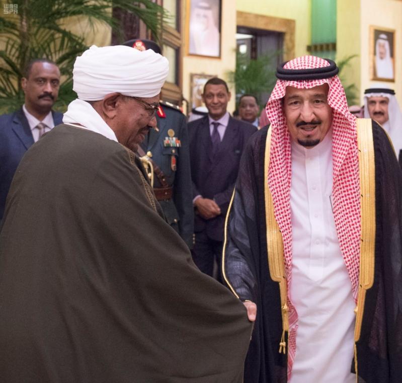 استقبال الملك لرئيس السودان 5