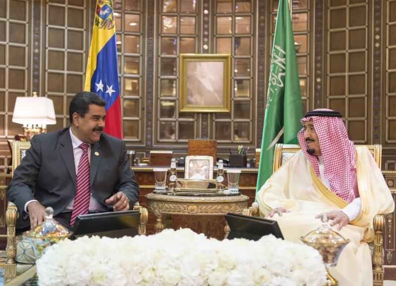 استقبال الملك لرئيس فنزويلا