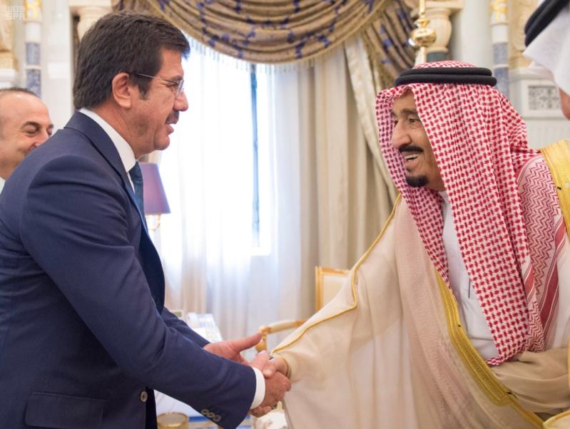 استقبال الملك لوزيي خارجية والاقتصاد التركيين4
