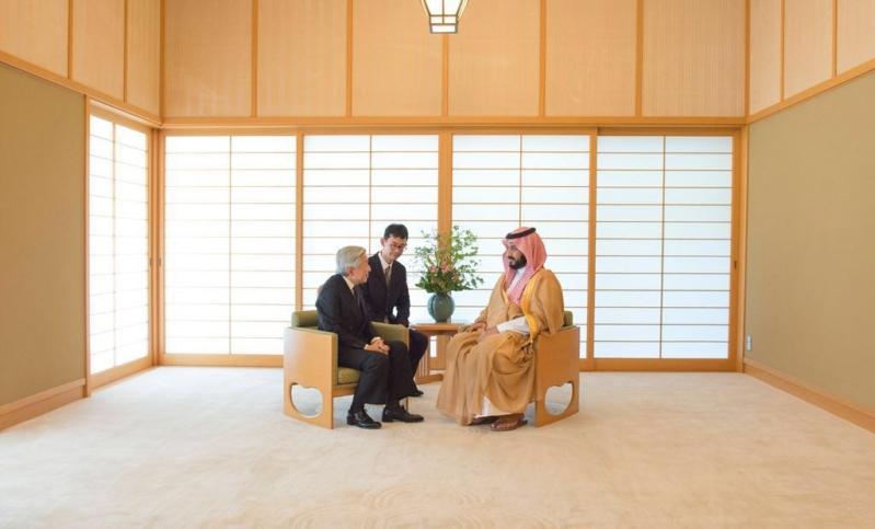 استقبال امبراطور اليابان لولي ولي العهد 1