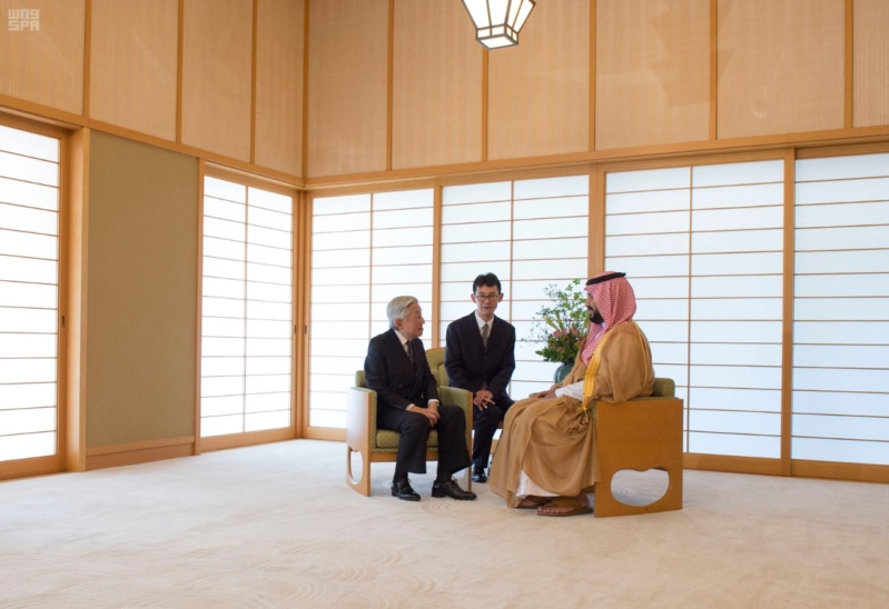 استقبال امبراطور اليابان لولي ولي العهد4