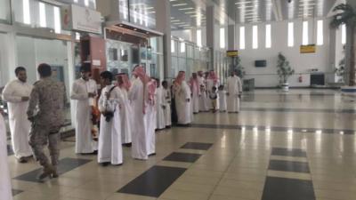 استقبال حافل بمطار #جازان للدكتور قشيش5