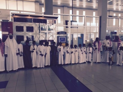 استقبال حافل بمطار #جازان للدكتور قشيش6