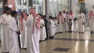استقبال حافل بمطار #جازان للدكتور قشيش7