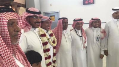 استقبال حافل بمطار #جازان للدكتور قشيش9