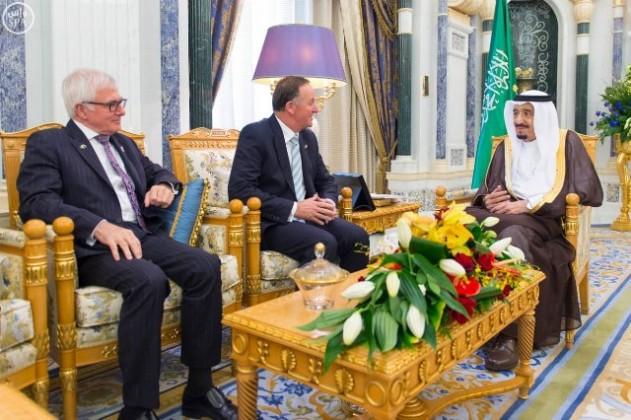 استقبال-خادم-الحرمين-الشريفين-رئيس-وزراء-نيوزيلندا  3
