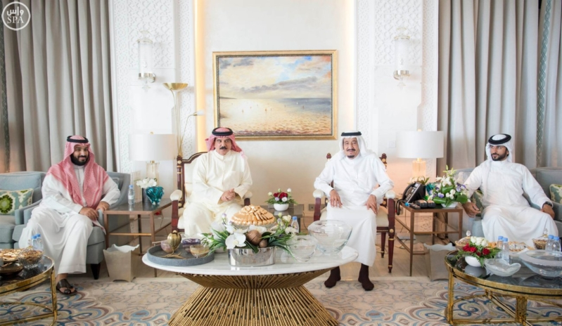 استقبال ملك البحرين في المغرب3