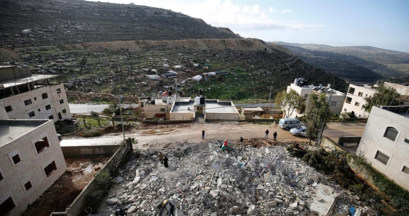 اسرائيل تهدم منازل فلسطينية قرب القدس