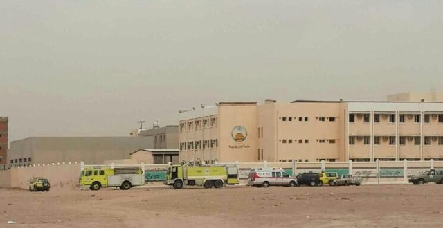 اندلاع حريق في مدرسة النعمان بالروضة وحالات ضيق تنفس بين الطلاب - المواطن